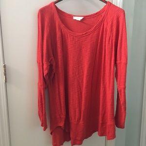 NWOT Kenji Red/orange Knit Shirt 2X Cotton